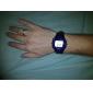 남성 스포츠 시계 디지털 LCD 맥박 측정기 달력 크로노그래프 경보 밴드 블랙