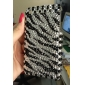 Protective Back Case with Crystals for iPhone 3G/3GS (Black and White)