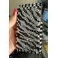 защитный футляр обратно с кристаллами для iphone 3g/3gs (черный и белый)