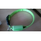 Dog Collar LED Lights Adjustable / Retractable Solid Nylon Red Green Blue Pink Rainbow