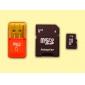 Карта памяти MicroSDHC Memory (8 Гб) с кард-ридером USB MicroSD и адаптером MicroSD (класс 4)