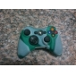 Protective Dual-Color Silicone Case for Xbox 360 Controller (Green and White)