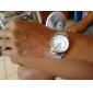 Hommes Montre Bracelet Quartz Acier Inoxydable Bande Pour tous les jours Argent Marque