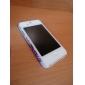아이폰4, 4S용 레드 플라워 패턴의 매우얇은 하드 보호케이스