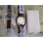 Case Premium de pele PU para iPhone 4 e 4S (branca)