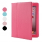 Protective PU Leather Case with Stand for iPad 2/3/4 (Auto Sleep Function,Optional Colors)
