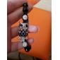 Owl Pattern Diamond Ball Hand-knitted Bracelet Blue