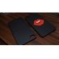 vermelho lábio padrão de capa de couro do plutônio para o iphone 4 e 4S (preto)