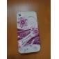 Etui de Protection Ultra-fin, Motif Fleur Rouge, pour iPhone 4/4S