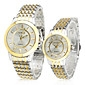 Couple's Quartz Analog Gold & Silver Alloy Band Wrist Watch (1-Pair) Cool Watches Unique Watches