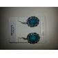 Lureme®Vintage Sapphire Turquoise Earrings