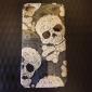 Etui de Protection Style Crâne pour iPhone 4/4S - Gris