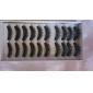 10 Pairs Black Fiber Lashes False Eyelashes