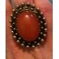 Anel Alloy colorido Oval Pedra
