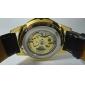 SHENHUA Masculino Relógio de Pulso relógio mecânico Automático - da corda automáticamente Gravação Oca Couro Banda Luxuoso Preta Marrom