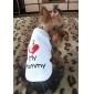 강아지 티셔츠 강아지 의류 문자와 숫자 화이트 코스츔 애완 동물