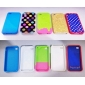 Etui de Protection Souple en PVC pour iPhone 4/4S - Assortiment de Couleurs