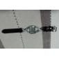 여성용 패션 시계 석영 모조 다이아몬드 라인석 PU 밴드 스파클 우아한 블랙
