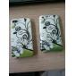 나비와 아이폰 3G 및 3GS에 대한 꽃 패턴 하드 케이스 (멀티 컬러)