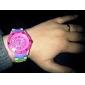 Unisex plástico relógio de pulso de quartzo analógico (Multi-Colored)