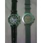 мужские случайные стиль красочные циферблат черный PU Группа Кварцевые наручные часы