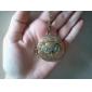 cuivre antique vieux hibou Collier zircon