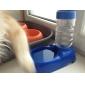 고양이 강아지 그릇&물병 애완동물 그릇 & 수유 방수 휴대용 레드 블루