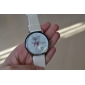 Women's Cartoon Cat Pattern White PU Band Quartz Analog Wrist Watch Cool Watches Unique Watches Fashion Watch