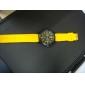 유니섹스 캐주얼 스타일에 실리콘 밴드 석영 손목 시계 (분류 된 색깔)