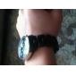 модные кварцевые наручные часы с черным пластиковым группы