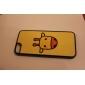 아이폰 5/5S를위한 만화 기린 패턴 서리로 덥은 표면 하드 케이스