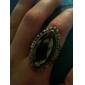 z&X® estilo vintage anel de cristal gravura marquês zircão