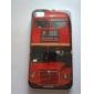 아이폰 4와 4S (빨간색 버스)에 대한 보호 하드 ABS 케이스