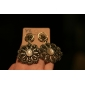 Glamorous Flower Style Retro Earrings for Women (Yellow)