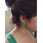 Green Lightning Acrylic Earrings