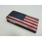아이폰 5/5S를위한 레트로 스타일 우리 국기 본 pu 가죽 상자