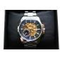 남자 캐주얼 스타일의 합금 아날로그 기계식 손목 시계 (실버)