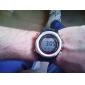 남성의 멀티 기능성 스타일 고무 자동 디지털 손목 시계 (블랙)