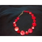 Special Round Slice Cowry Necklace For Women (Rose)