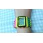 Dames Modieus horloge Horloge Hout Digitaal horloge Digitaal Alarm Kalender Chronograaf LCD Plastic Band Snoep Cool Meerkleurig