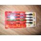 brosse à dents de charbon de bambou avec poignée en silicone (4 pièces)