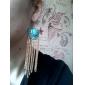 boucles d'oreilles en éventail gland alliage acrylique