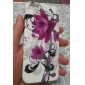 아이폰 5/5S를위한 자주색 꽃 패턴 소프트 케이스