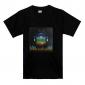 Sound und Musik aktiviertesd  LED T-Shirt mit Globus-Motiv(3 x AAA Batterien)