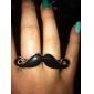 Anéis Diário Jóias Liga Feminino Anéis Grossos 1peça,Ajustável Dourado Preto