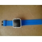 Спортивные часы унисекс с квадратным зеркальным циферблатом с голубым светодиодом