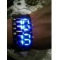 남성용 손목 시계 디지털 달력 LED Plastic 밴드 블랙