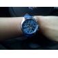 Homens Relógio de Pulso Quartzo PU Banda Preta Branco Azul
