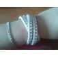 bracelet en cuir bracelet de cortex de rivet multicouche