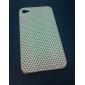 매우 얇은 고무 매트 메쉬 하드 케이스 아이폰 4 표지 및 4S (흰색)